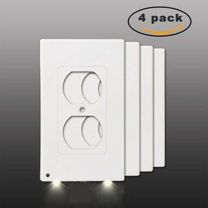 4pc Night Angel Duplex Wall Outlet Cover